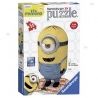 PUZZLE KULISTE 3D 54 ELEMENTY MINIONKI MINIONS
