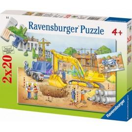 PUZZLE 2X20 NA BUDOWIE RAVENSBURGER 091614