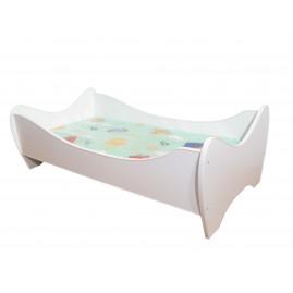 Łóżko dziecięce 140x70 białe EKO materac gratis