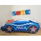 SAMOCHÓD Łóżko dziecięce 140x70 AUTO SEDAN POLICJA
