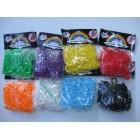 600 szt gumek do robienia bransoletek kolory świecące UV